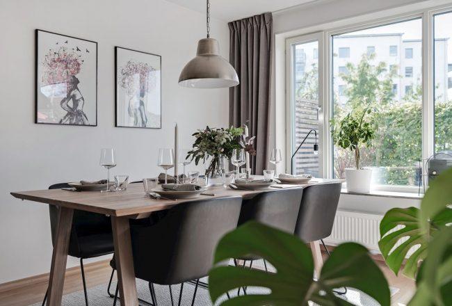 Un apartament luminos și o amenajare simplă, dar de efect